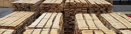 Birch sawn timber